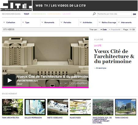 Webtv Cite Architecture et patrimoine