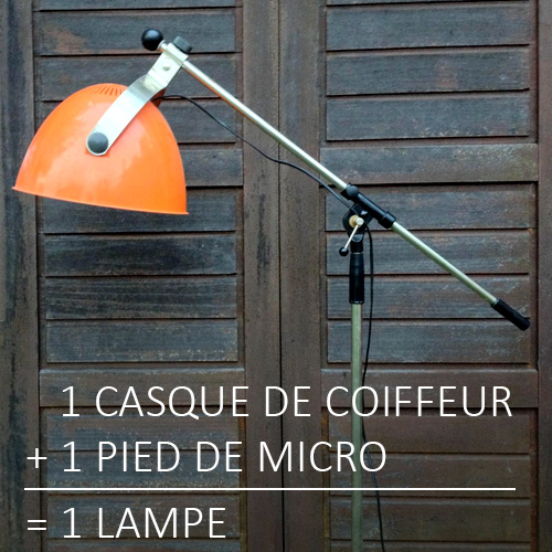 1 casque de coiffeur + 1 pied de micro = 1 lampe. Photo Richard Carlier.