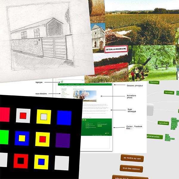 Quelques travaux de début de formation réalisés par Edouard, formation graphisme EDAA