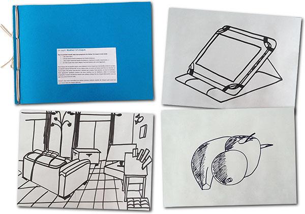 Portrait Nathalie - Formation Design EDAA - Croquis début formation