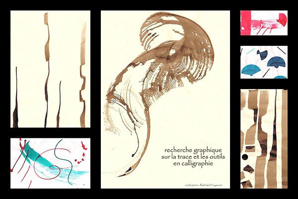 Portrait Nathalie - Formation Design EDAA - Recherches graphiques personnelles