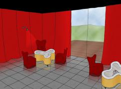 Vue intérieure d'un bar lounge