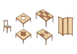 Collection de meubles en teck et bambou