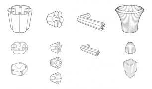 Série de petits objets