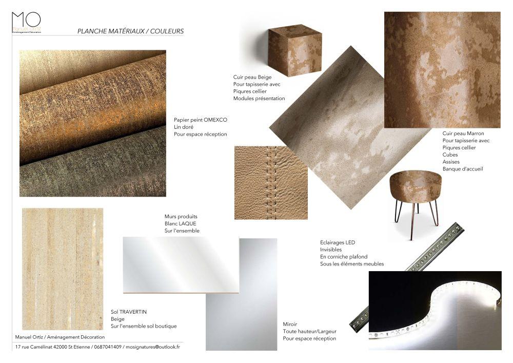 Planche Matériaux & couleurs